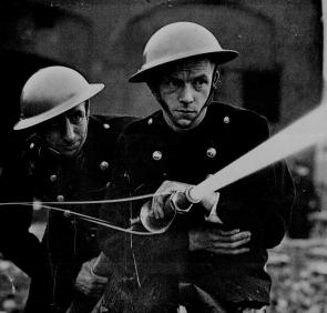 Members of the London Auxiliary Firefighting Service. The Battle of Britain.