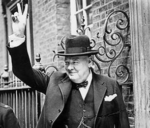 churchill fi...V For Victory Sign