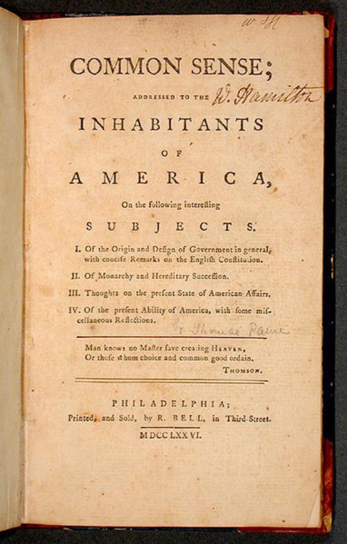 Томас пейн книги автора