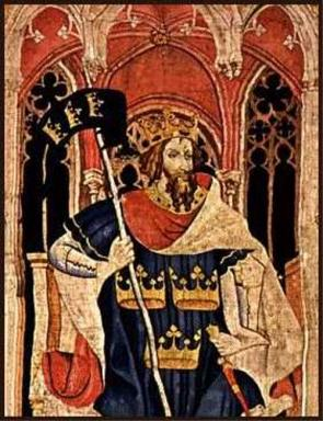 King Arthur as one of the Nine Worthies, detail from the 'Christian Heroes Tapestry'